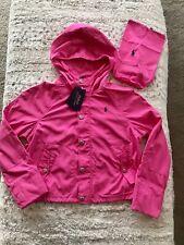 New Ralph Lauren Girls Pink Hooded Water Resistent Jack XL 16YRS 160/184
