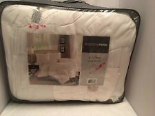Madison Park Pacifica Comforter Set white King 4 piece bedding set brand new