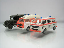 Lot of 3 Roco Austria Plastic HO Ambulance Cars 1/87 Volkswagen/Jeep
