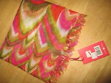 NWT pink / tan print LINDSAY PHILLIPS 4-WAY scarf - MSRP $29.95