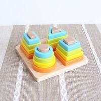 Wooden Educational Preschool Shape Color Sorting Board for Kids Toddler
