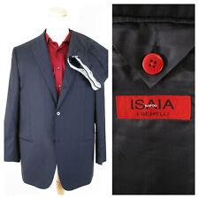 Isaia Napoli I Gemelli Navy Black Pinstripe Wool 3/2 Roll Suit 46R Pants 40 X 32