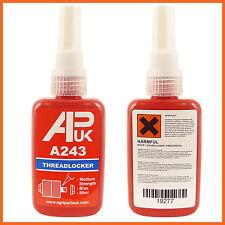 NEW APUK A 243 Like Loctite 50ml bottle Medium Locktite Threadlocker glue Henkel