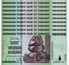 9/ 50 TRILLION ZIMBABWE DOLLAR MONEY CURRENCY.UNC* USA SELLER*