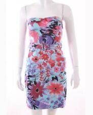 H&M Bandeau Kleid Blumen Gr. M