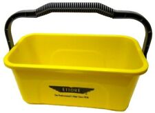 Multipurpose Water Bucket Compact Sturdy Handle 3 Gal Heavy Duty Yellow Plastic