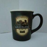 Elvis Presley's Graceland Coffee Mug 3-D Raised Image Stoneware 2 Sided Official