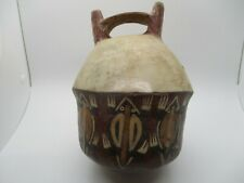 Pre-Columbian Nazca Peru Pottery Horned Toad Stirrup Vessel Artifact