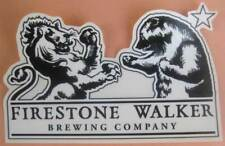 FIRESTONE WALKER BREWING COMPANY Beer STICKER Label with LION & BEAR, CALIFORNIA
