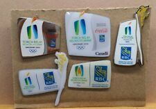 LOT OF 5 2010 VANCOUVER TORCH RELAY RBC ROYAL BANK & COCA COLA OLYMPIC PIN