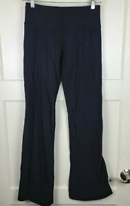 Lululemon Womens Wunder Under Flared Pants Black Activewear Straight Leg Size: 4