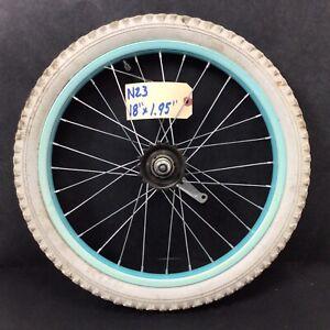 "18"" Rear Blue Bicycle Wheel, Coaster Brake and 1.95"" Tire BMX Bike #N23"