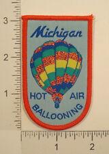 Vintage MICHIGAN HOT AIR BALLOONING Balloon State Souvenir PATCH