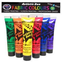Mardi Gras Fabric Paint Textile Paint Fabric Printing 6 x 15ml By Artistic Den**