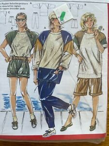 New Vtg Burda 5746 Hi-Waist Bermuda Shorts Pants Sewing Pattern 8-10-12-14-16-18