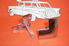 1955 1956 1957 Chevy Rear W/ Moulding Corner Clips Belair Stainless Chrome Sedan