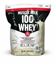 Muscle Milk 100% Whey Protein Powder Vanilla 25g Protein 5 Pound