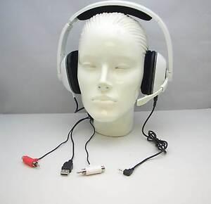 Plantronics GameCom X40 WHITE Gaming PC Headset 83603-01 for Microsoft Xbox 360