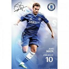 Juan Mata Chelsea FC Poster English Premier League new Blues EPL Spain