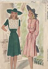 "1941 Vintage Sewing Pattern DRESS B33"" (46)"