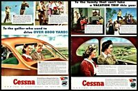 1943 CESSNA Family Car Aircraft 2 AD LOT Vintage Plane Aviation Flying