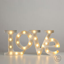 Large Light Up Battery LED Love Word Letters Wall Light Sign Wedding Decor Lamp