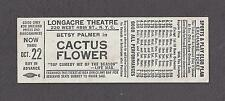 "Betsy Palmer ""CACTUS FLOWER"" Abe Burrows 1968 Longacre Theatre Promo Ticket"