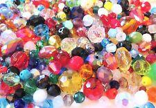 300+ pc SWAROVSKI Crystal & CZECH Glass Mixed Bead Lot 3mm 4mm 6mm 8mm 10mm 12mm