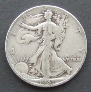 1941 United States half dollar silver coin