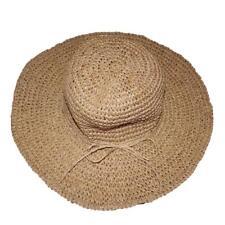 Uomo Paglia Protezione Cappello da Sole Della Spiaggia Vacanza 31e49fecd1a6
