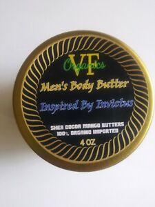 Men's Invictus Scented Body Butter Shea Cocoa Mango Luxury Cream Cologne Lotion