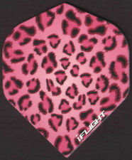 Pink Leopard Pattern Dart Flights: 3 per set