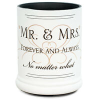 Mr & Mrs Ceramic Stoneware Electric Large Jar Candle Warmer