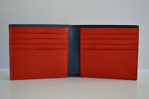 Paul Smith Mens Red Saffiano Leather Billfold Wallet New