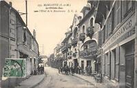 CPA 77 MARLOTTE LA GRAND RUE ET HOTEL DE LA RENAISSANCE