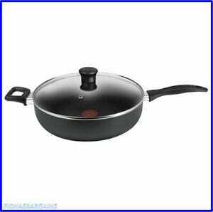 NEW Tefal Thermo Spot Easy Care 30cms Jumbo 30 cms 4.7L Saute Pan With Glass Lid