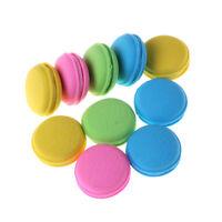 Nice 2Pcs Fashion Cute Macarons Colors Rubber Pencil Eraser Sweet Stationery _AU