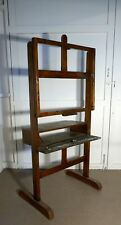 A Very Rare Large French Oak Studio Easel