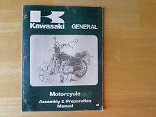 Kawasaki General Motorcycle Assembly & Preparation Manual Part No. 99931-1064-03