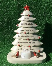 SPECIAL HUSBAND CHRISTMAS TREE GRAVE MEMORIAL ORNAMENT REMEMBRANCE CEMETERY GIFT