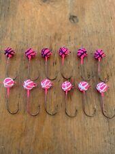 Custom Size 2 Eagle Claw Walleye Jigs 1/8 Ounce Pink/Purple/White