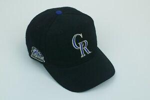 Vintage American Needle Colorado Rockies MLB Blockhead Snapback Hat Cap