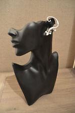 CUTE! Lizard gecko silver effect diamante over the ear cuff earring