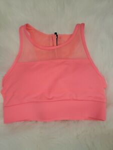 ZYIA Active All Star One More Rep Padded Longling High Neck Sports Bra S  HJ-10