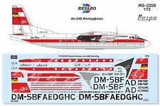 Revaro Decal An-24B Interflug for Amodel kit 1/72