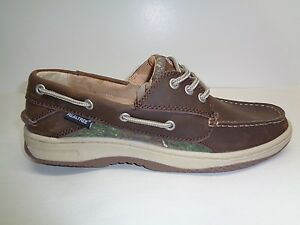 RealTree Size 10 M MASON Brown Leather Boat Shoes New Mens Shoes