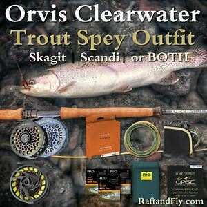 """Orvis Clearwater 3wt Trout Spey Outfit 11'4""""- OPST or Orvis Mission add Scandi"""