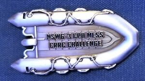"""Awesome 2.5"""" Navy USN CPO Mess Challenge Coin NSWG-3 Seals Boat"""