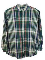 Ralph Lauren Men Career Formal Long Sleeve Dress Shirt Size Large L Green