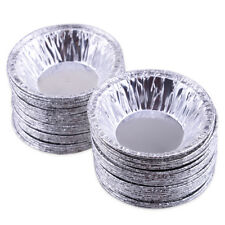 50x Disposable Aluminum Foil Baking Cup Egg Tart Pan Cupcake Cookie Muffin Mould
